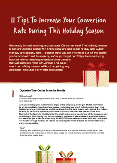 11 Tips To Increase Your Conversion Rate During This Holiday Season.